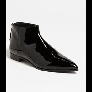 NEW Miu Miu Patent Leather Chelsea Ankle Bootie
