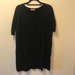 Black Piko Tunic Dress