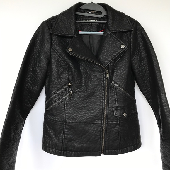new lower prices various styles special sales NWOT Steve Madden Faux Leather Moto Jacket