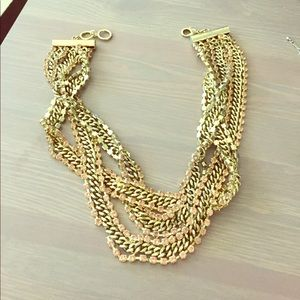 Chain and link statement necklace