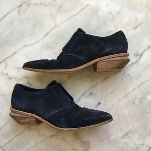Alexander Wang navy suede pointed toe boots Sz 39