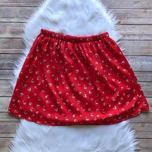 Everly Sailboat Print Mini Skirt