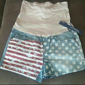 Pants - Patriotic USA maternity shorts