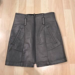 LF carmar skirt olive green leather