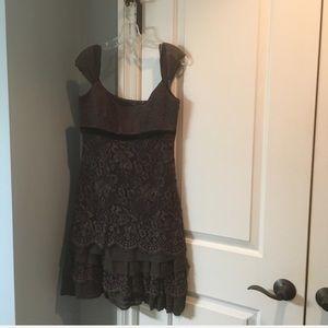 Brown Elie Tahari cocktail dress