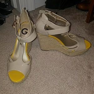 Wedge Guess Strappy Heels