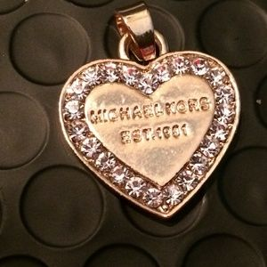 Michael Kors Gold Pave Crystal Heart Charm