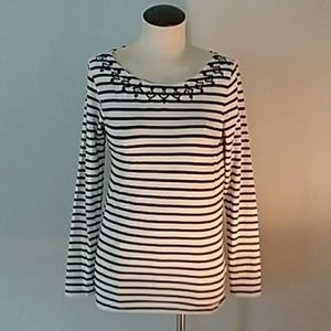 Vineyard Vines Striped Top with Sequins