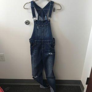 Pants - Dark wash overalls