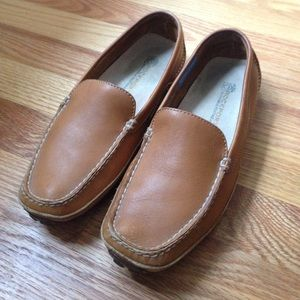 Camel Leather Rockport Driving Shoes