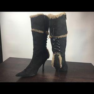 Women's fashion boots high heel - size 8
