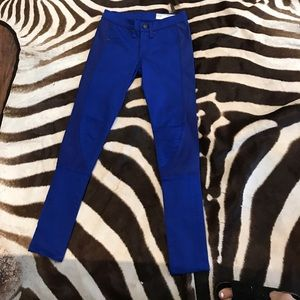Rag & Bone bright blue skinny jeans