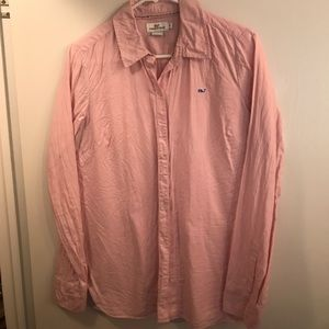 Pink long sleeve collared shirt