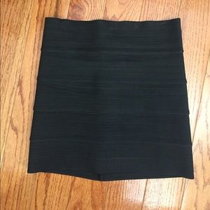 Pleasure Doing Business Black Bandage Skirt