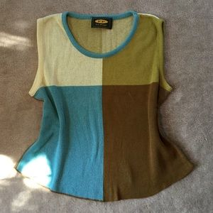 Free People Color block sweater top.