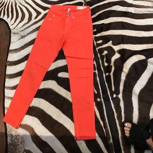 Rag & bone orange skinny jeans