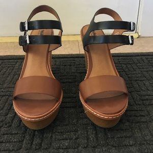 Mossimo Colorblock Wedge Sandals