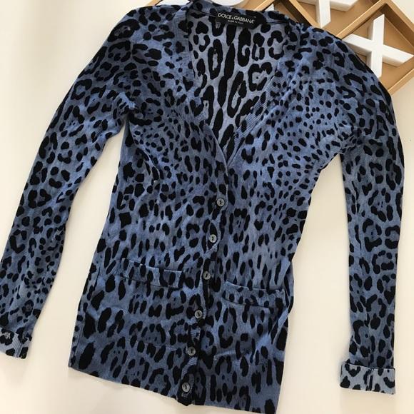272e10dd2a8 Dolce   Gabbana Sweaters - Dolce   Gabbana Leopard Print Cardigan