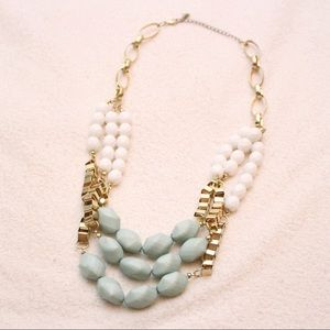 Jewelry - Chunky Gold and Teal Layered Statement Necklace