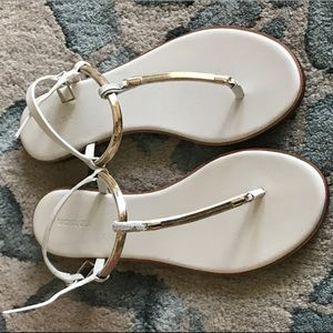 NWT Rachel Zoe White Sandals