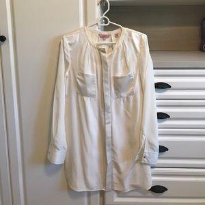 Off White Silk Ted Baker Shirt Dress