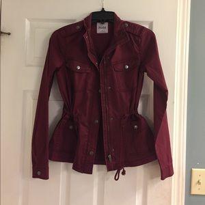 Fall burgundy jacket