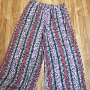 Flower flowy pants