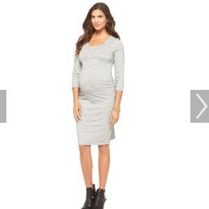Liz Lange Knit Ruched Side Maternity Dress