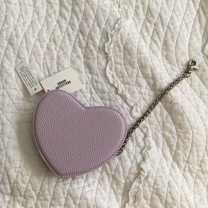 Lavender Heart Coin Purse