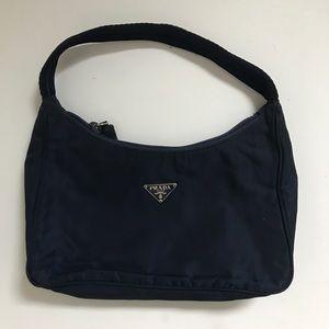 Prada mini nylon bag in navy