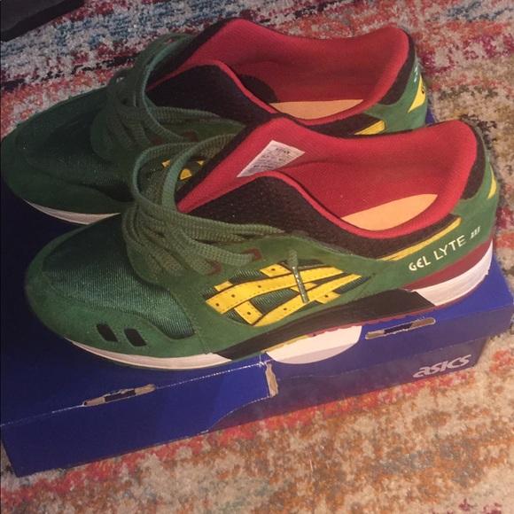 on sale 9812b db4f8 Asics Shoes | Gel Lyte Iii Carnival Pack Rasta Size 105 | Poshmark