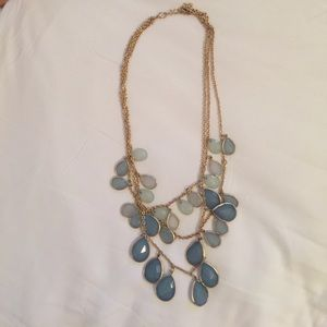 Blue and teal statement necklace