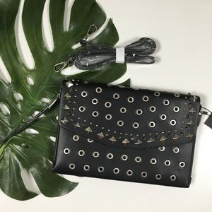 NWT Zara Studded Envelope Clutch