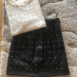Zara faux leather skirt - XS