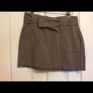 Brown TShirt Material skirt with Tie