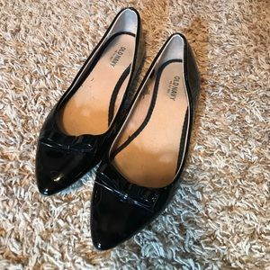 Patent leather bow flats
