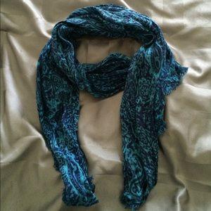 Paisley blue J Crew scarf