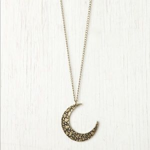 Free People crescent moon necklace