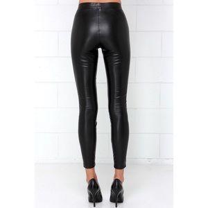 2954bdfdff8a3 BB Dakota Pants - BB Dakota Alyssa black vegan leather pants