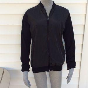 Zara men black zip up jacket size small