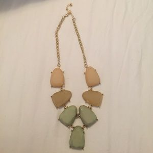 Green and tan statement necklace from Nordstrom