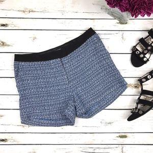 H&M Black Blue Tweed Knit Dress Shorts