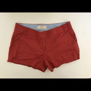 """J.Crew 100% Cotton Chino Shorts Old Red 3"""""""