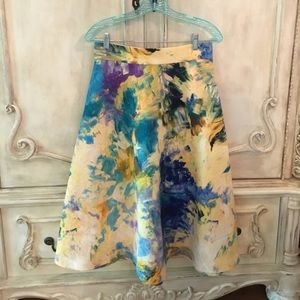 Beautiful h&m watercolor A-line skirt