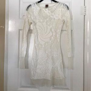 Jean Paul Gaultier White Sheer Tunic