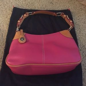 Dooney & Bourke pink/tan hobo