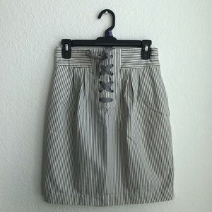 UK STYLE FRENCH CONNECTION STRIPED SKIRT