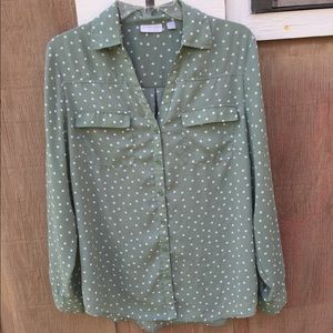 New York & Company polka dot blouse