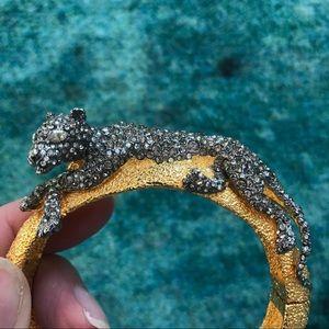 Alexis Bittar Perching Panther Cuff Bracelet