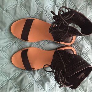 Black gladiator sandals